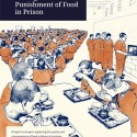 Eating Behind Bars report cover, an illustration of men in orange jumpsuits in a cafeteria.